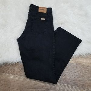 《210》Levi's Black Stretch Mid Rise Bootcut Jeans